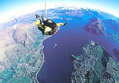 Skydiving over Lake Wanaka
