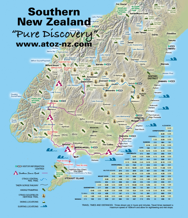 Southern Scenic Route, South Island New Zealand, Self Drive Holidays on